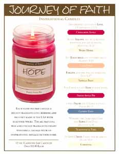 journey faith candle
