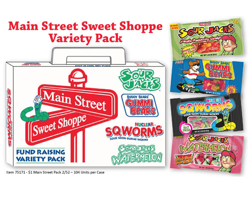 Main Street Sweet Shoppe Carrier and Candy Collage