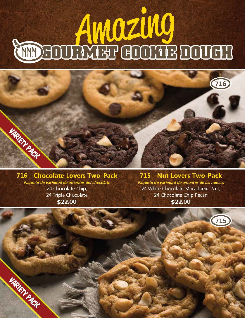 Amazing Gourmet Cookie Dough 4 page cover only