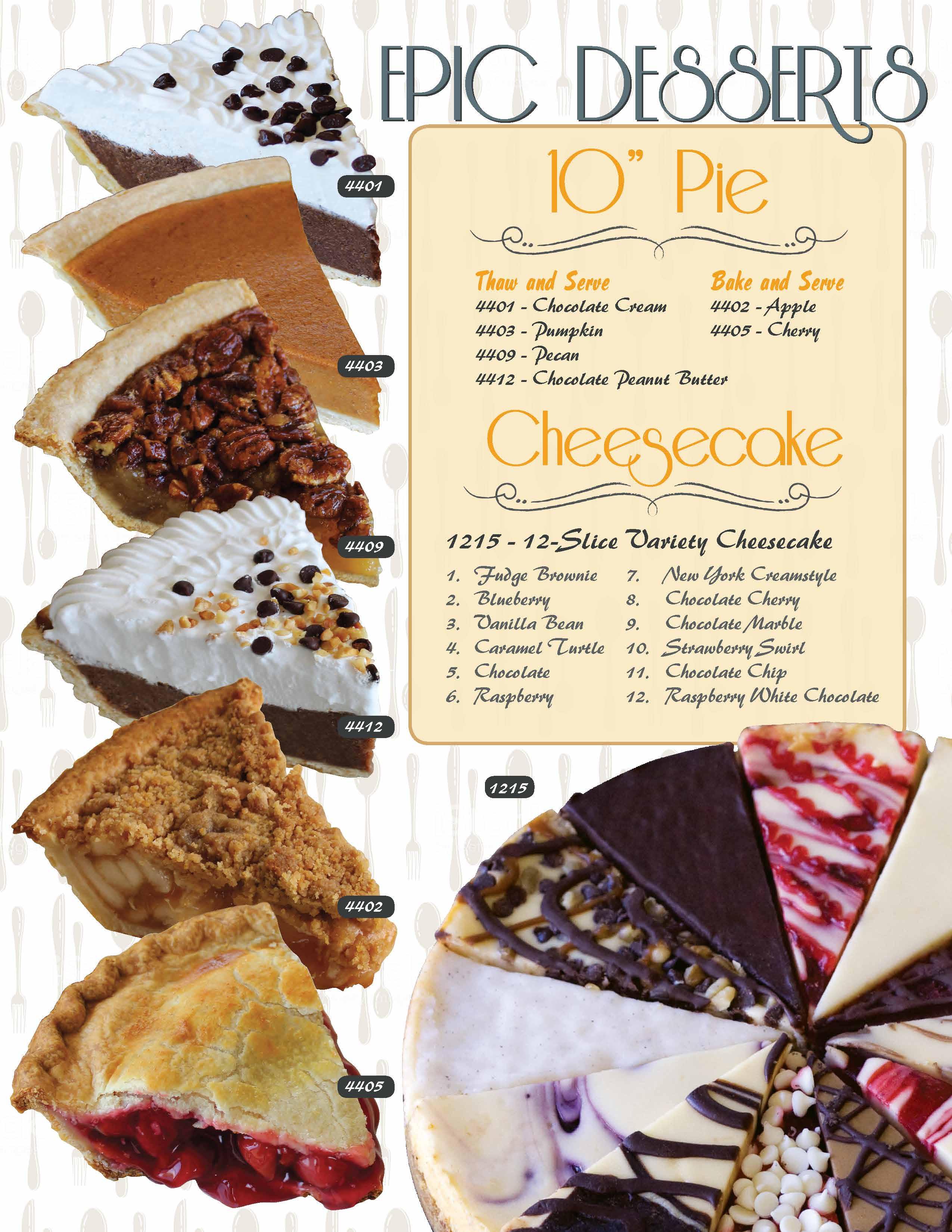 Epic Desserts Brochure