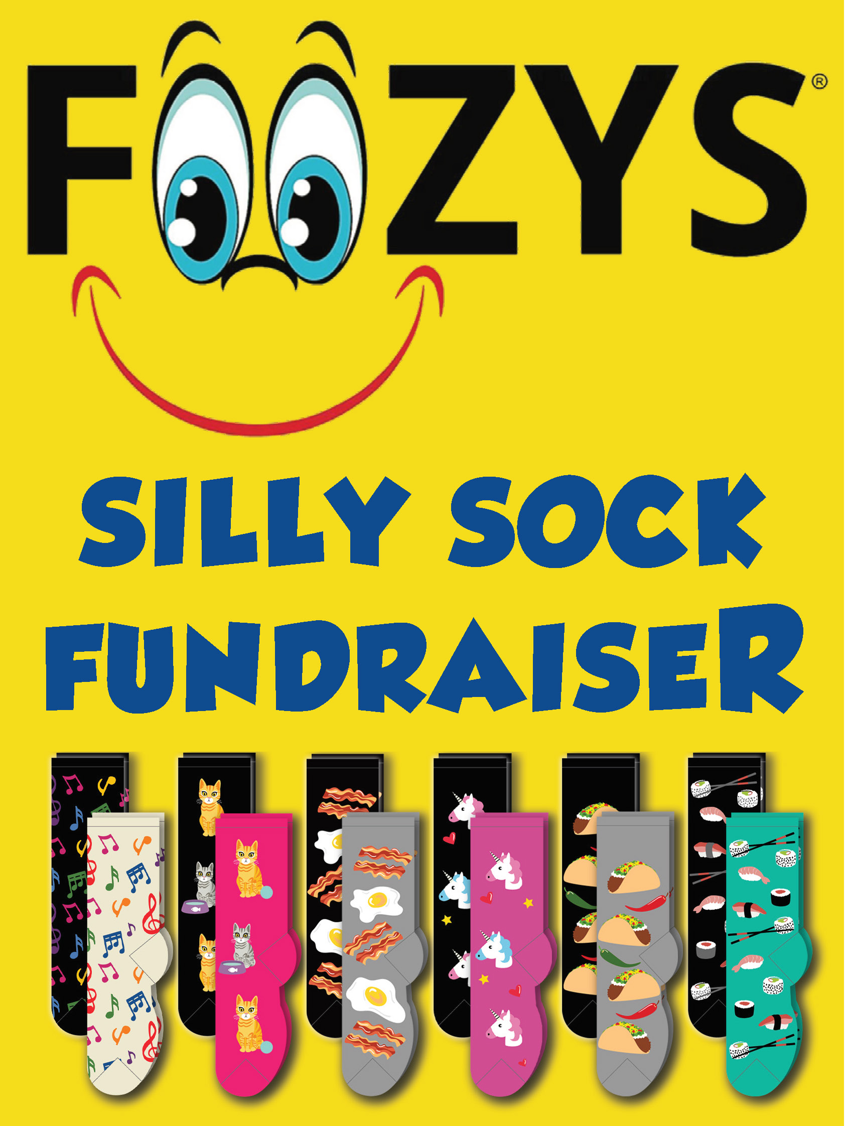 Foozys Sill Sock Fundraiser With 12 Pair Assortment