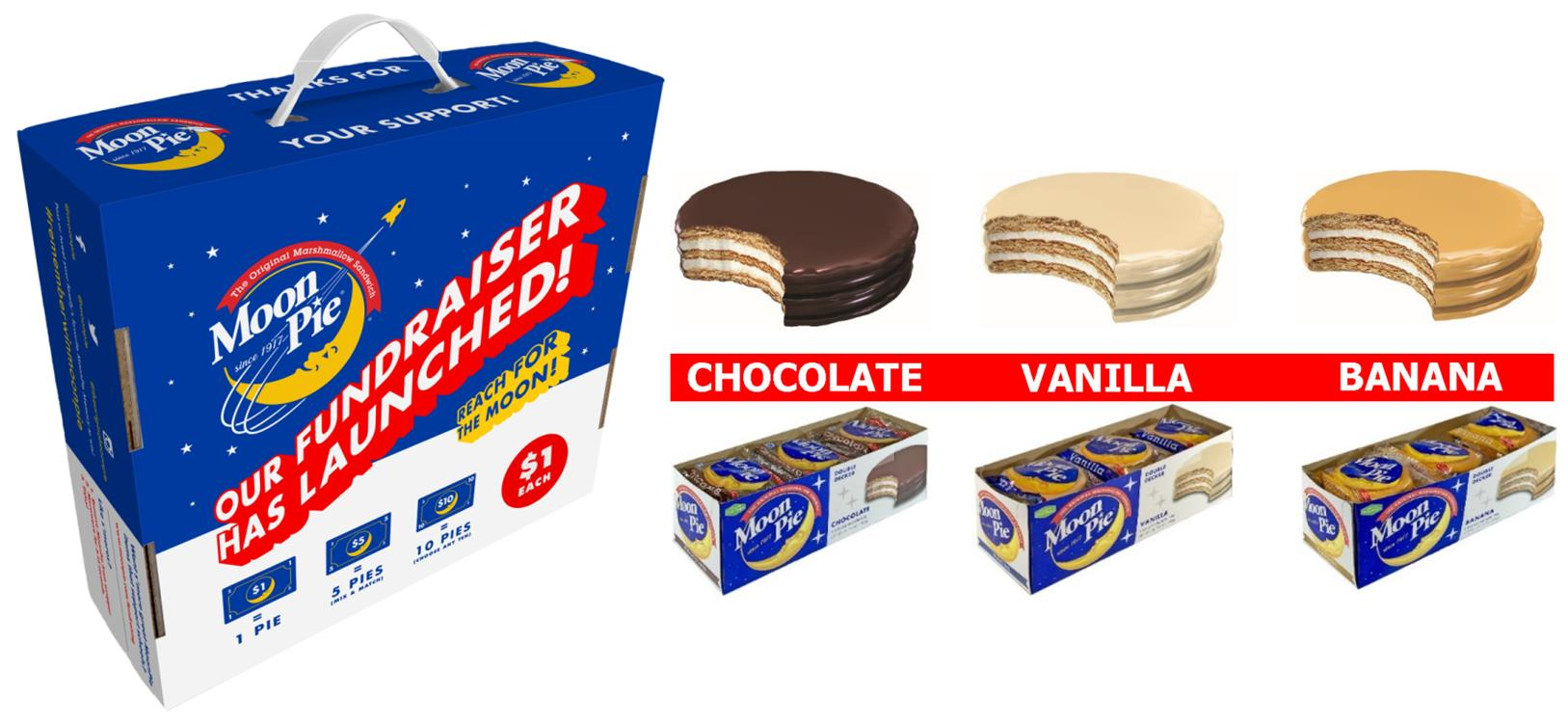 Moon Pie Carrier with Cartons of 3 Available Flavors