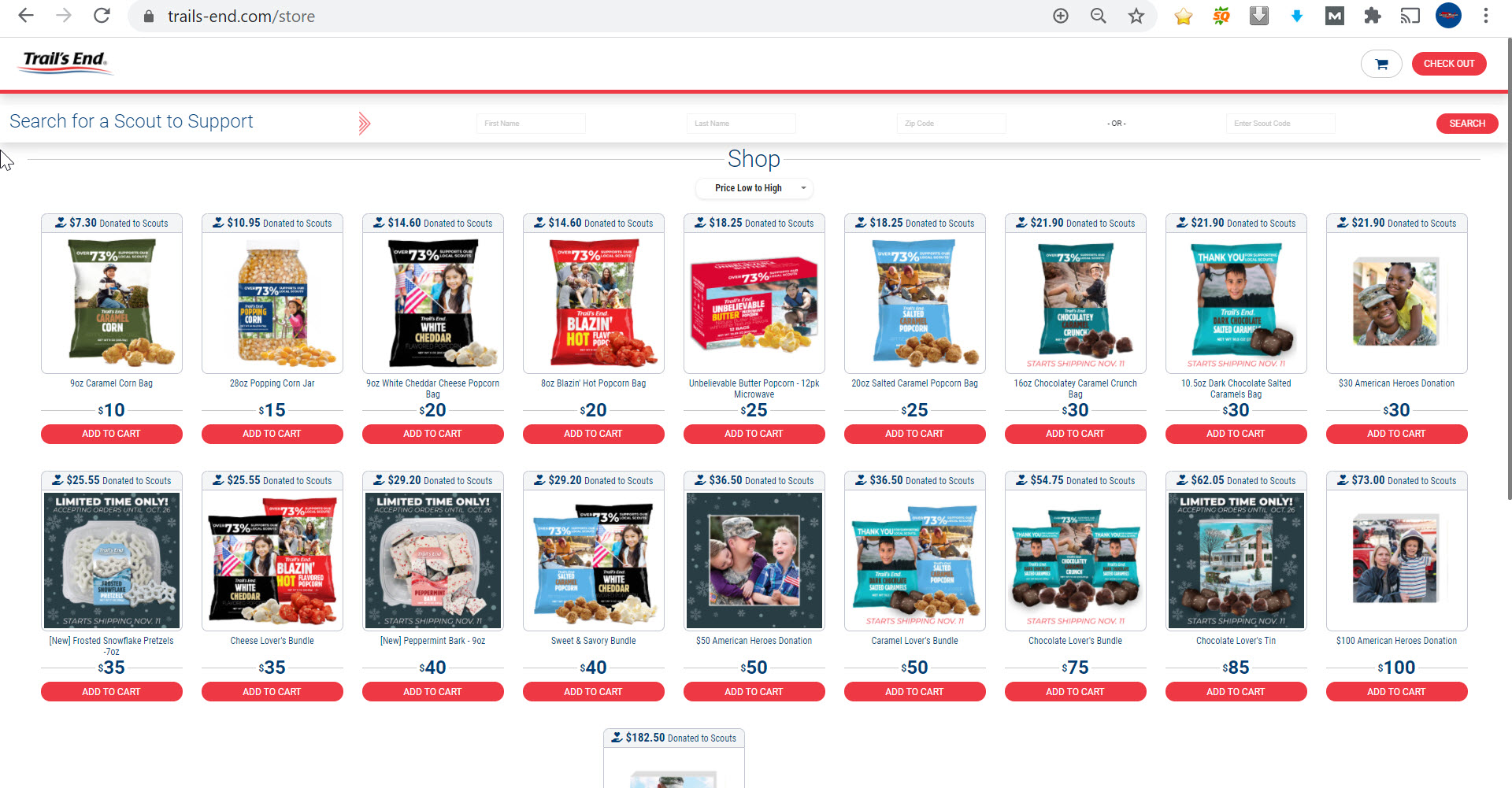 Trail's End BSA Online Store