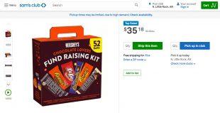 Sam's Club Fundraising Kit Hersheys Chocolate Lovers