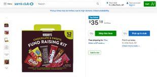 Sam's Club Fundraising Kit Hersheys Chocolate & Sweets